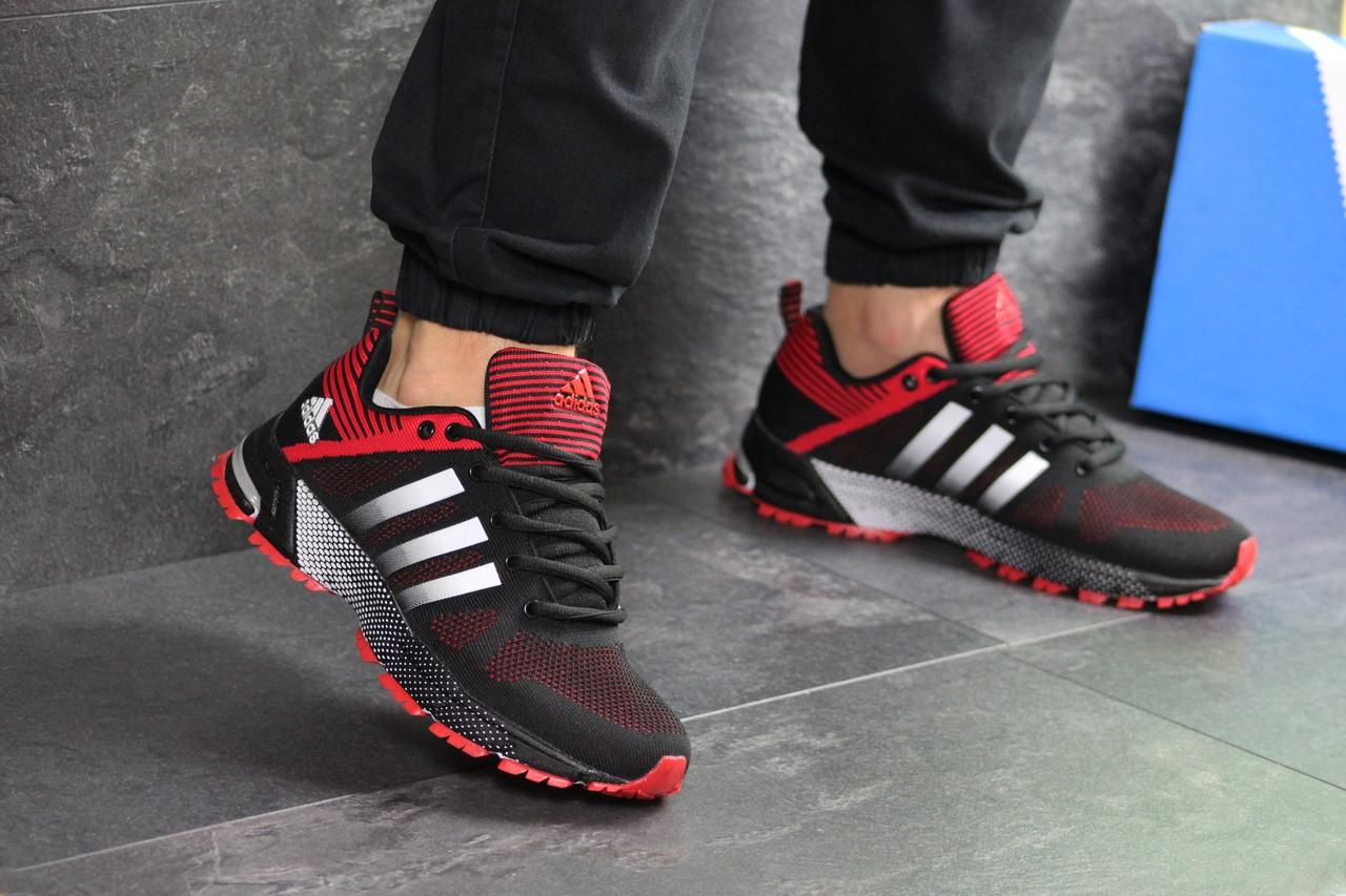 Кроссовки Adidas Fast Marathon,сетка,черные с красным 41,44р