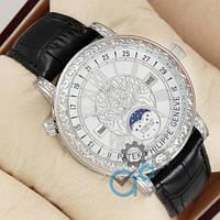 Наручные мужские часы Patek Philippe Grand Complications 6002 Sky Moon Black-Silver-White