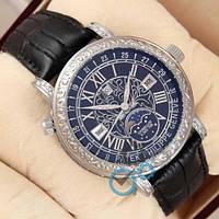 Наручные мужские часы Patek Philippe Grand Complications 6002 Sky Moon Black-Silver-Black