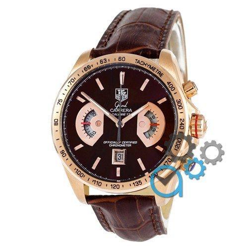 Наручные мужские часы Tag Heuer Grand Carrera Calibre 17 Quartz Brown-Gold-Brown