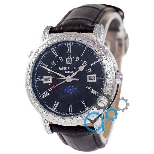 Наручные мужские часы Patek Philippe Grand Complications 5160 Sky Moon Black-Silver-Black