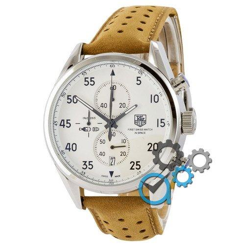 Наручные мужские часы TAG Heuer Carrera 1887 SpaceX Quartz Silver-White