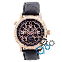 Наручные мужские часы Patek Philippe Grand Complications 6002 Sky Moon Black-Gold-Black