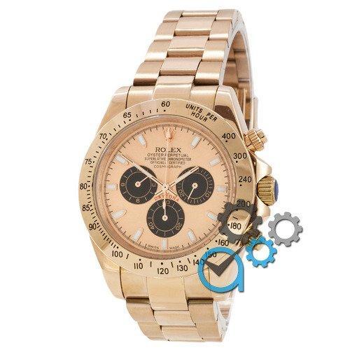 Наручные мужские часы Rolex Daytona AAA Gold-Black-Rose