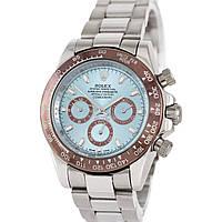 Наручные мужские часы Rolex Cosmograph Daytona AAA Silver-Brown-Blue-Brown
