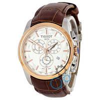 Наручные мужские часы Tissot T-Classic Couturier Chronograph Brown-Gold-White