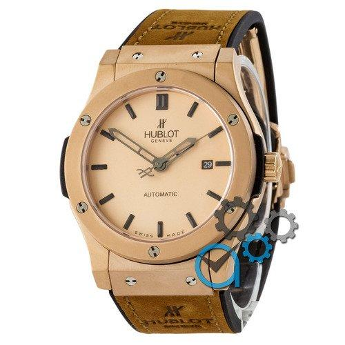 Наручные мужские часы Hublot Classic Fusion Automatic Brown-Gold-Mate