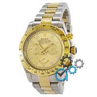 Наручные мужские часы Rolex Daytona AAA Mechanic Silver-Gold-Gold