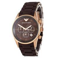 Наручные мужские часы Emporio Armani AAA Gold-Brown Silicone
