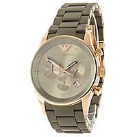 Наручные мужские часы Emporio Armani AAA Gray-Gold Silicone