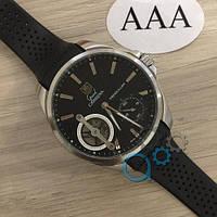 Наручные мужские часы Tag Heuer Grand Carrera Pendulum Black-Silver-Black