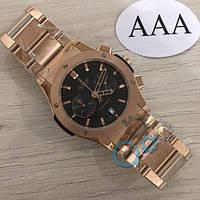 Наручные мужские часы Hublot Classic Fusion Chronograph Gold-Black Metall