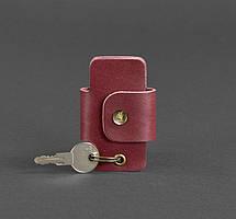 Чехол для ключей кожаный ключница марсала BN-KL-4-vin