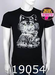 Мужская футболка с принтом волк 19054,светится в темноте, Valimark, М,Л,ХЛ