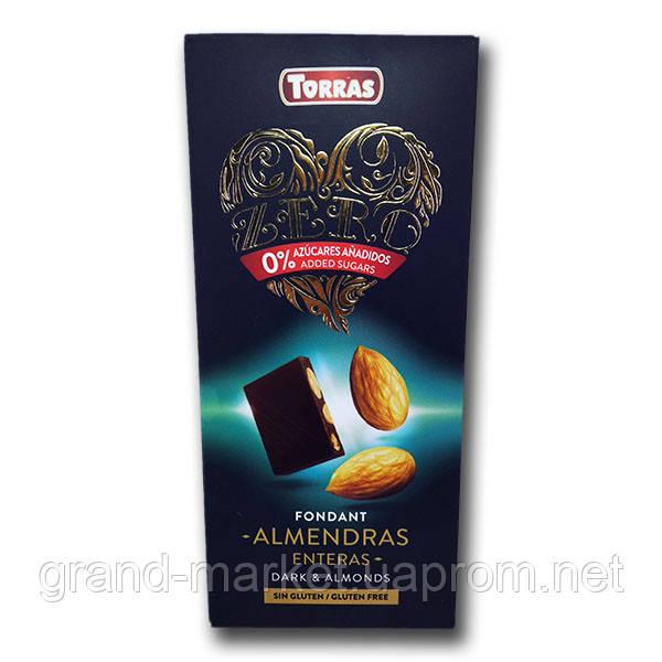 "Шоколад черный с миндалем (без сахара и глютена) "" Torras Zero "" 150 g"