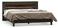 Кровать двухспальная Ева Мебель Сервис 160х200 макасар глянец