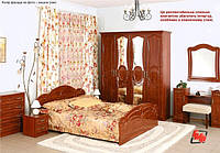 Спальня Глория МДФ (с 6 дверным шкафом) БМФ