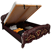 Кровать двухспальная с подъемным механизмом Реджина / Regina MiroMark 160х200 перо рубино