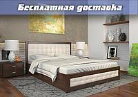 Кровать деревянная с подъемным механизмом Рената Д из натурального дерева двуспальная, фото 1