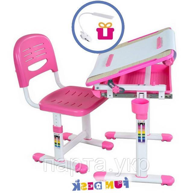 Детская парта - мольберт со стульчиком, розовый