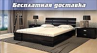 Кровать деревянная с подъемным механизмом Дали Люкс из натурального дерева двуспальная