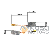 Щетки для электроинструмента 5*10*17 Bocsh 06-046