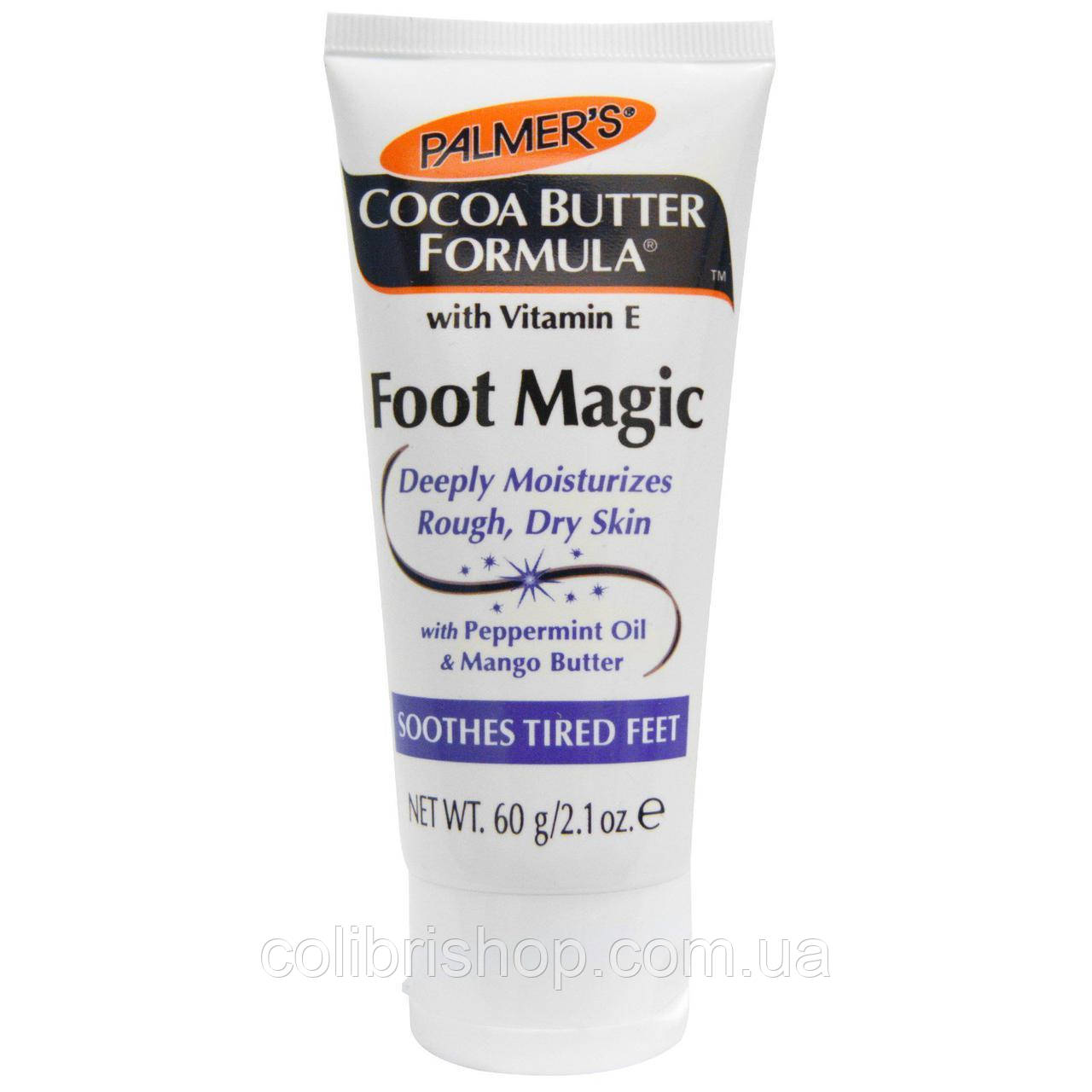 Крем для стоп Palmer's, Cocoa Butter Formula, Foot Magic с маслом мяты и манго (60 г)