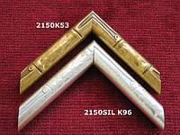 Пластиковый багет под бамбук (золото, серебро).Багетная мастерская. Рамка для фото, рама для вышивки