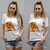 Женская футболка с львенком