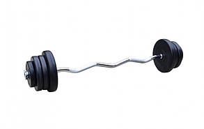 Штанга W-подібна 32кг з протиударним ABS покриттям