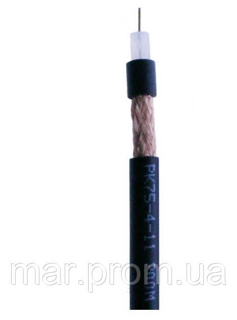 Кабель коаксиальный наружный РК 75-4-11 диам.-7мм, черный, 200м