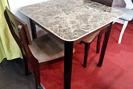 Стол обеденный со столешницей из керамической плитки Кент Модуль Люкс, орех темный