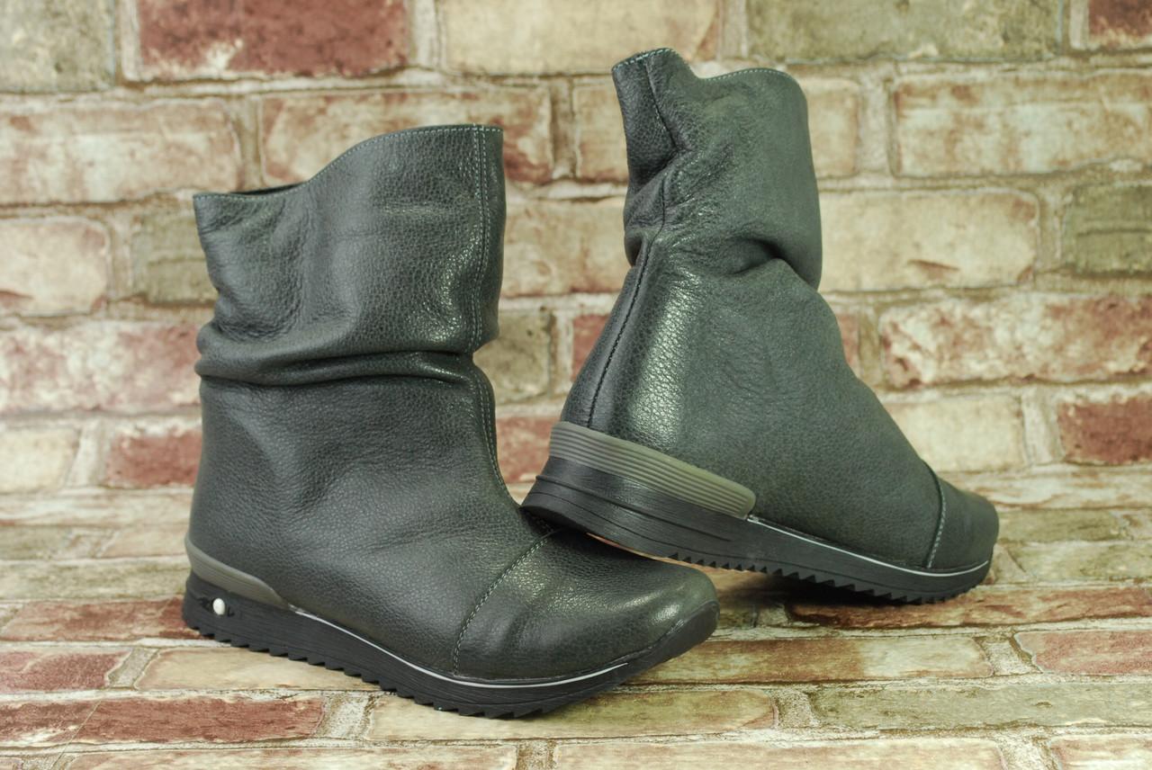 60a3ba024 Распродажа! Стильные женские зимние утепленные мехом сапоги (ботинки)  полусапожки Viva Вива натуральная кожа