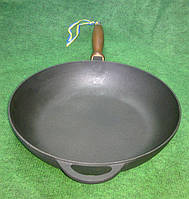 Сковорода чугунная  сотейник 280х60 мм.Посуда чугунная.