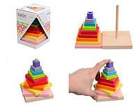 Игрушка пирамидка деревянная, Пирамидка Cubika 12329 «Левеня»