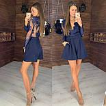 Женский стильный комбинезон с кружевом (3 цвета), фото 2