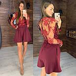 Женский стильный комбинезон с кружевом (3 цвета), фото 5