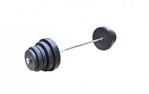 Розбірна Штанга 83 кг з протиударним ABS покриттям