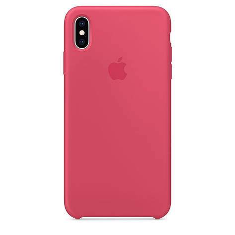 Чехол накладка для Apple iPhone XS Max Silicone Case Rose Red (MMWF2ZM / A) (HC), фото 2