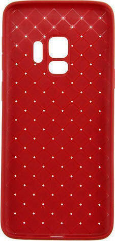 Чехол накладка Rock для Samsung Galaxy S9 G960F Ultrathin Weaving Protective Красный (RPC1384), фото 2