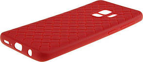 Чехол накладка Rock для Samsung Galaxy S9 G960F Ultrathin Weaving Protective Красный (RPC1384), фото 3