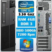 Lenovo M82 SFF/ Core i3 to 3.30Ghz/RAM 4Gb/HDD 500Gb наклейка Win7Pro