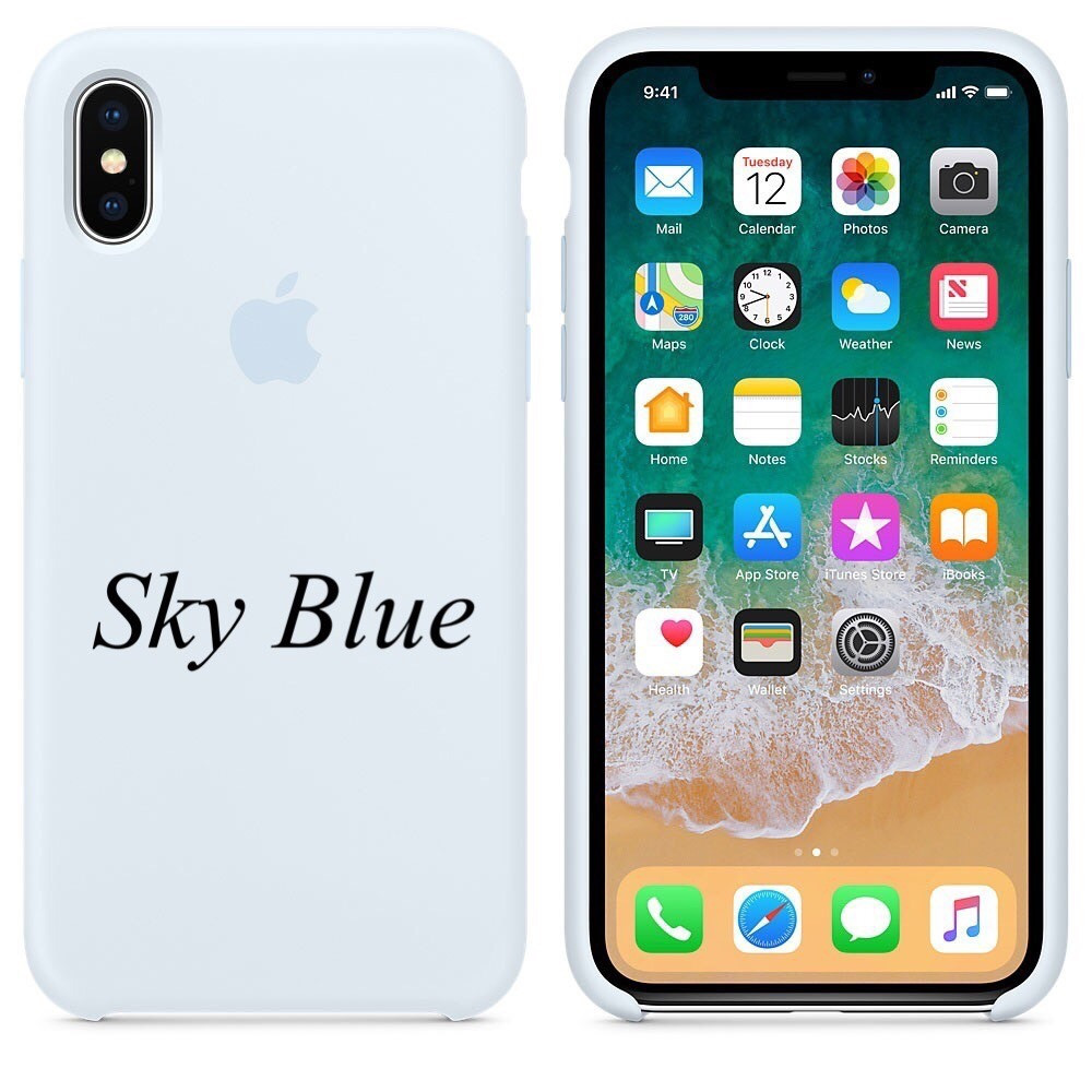 "APPLE SILICON CASE IPHONE X "" SKY BLUE """
