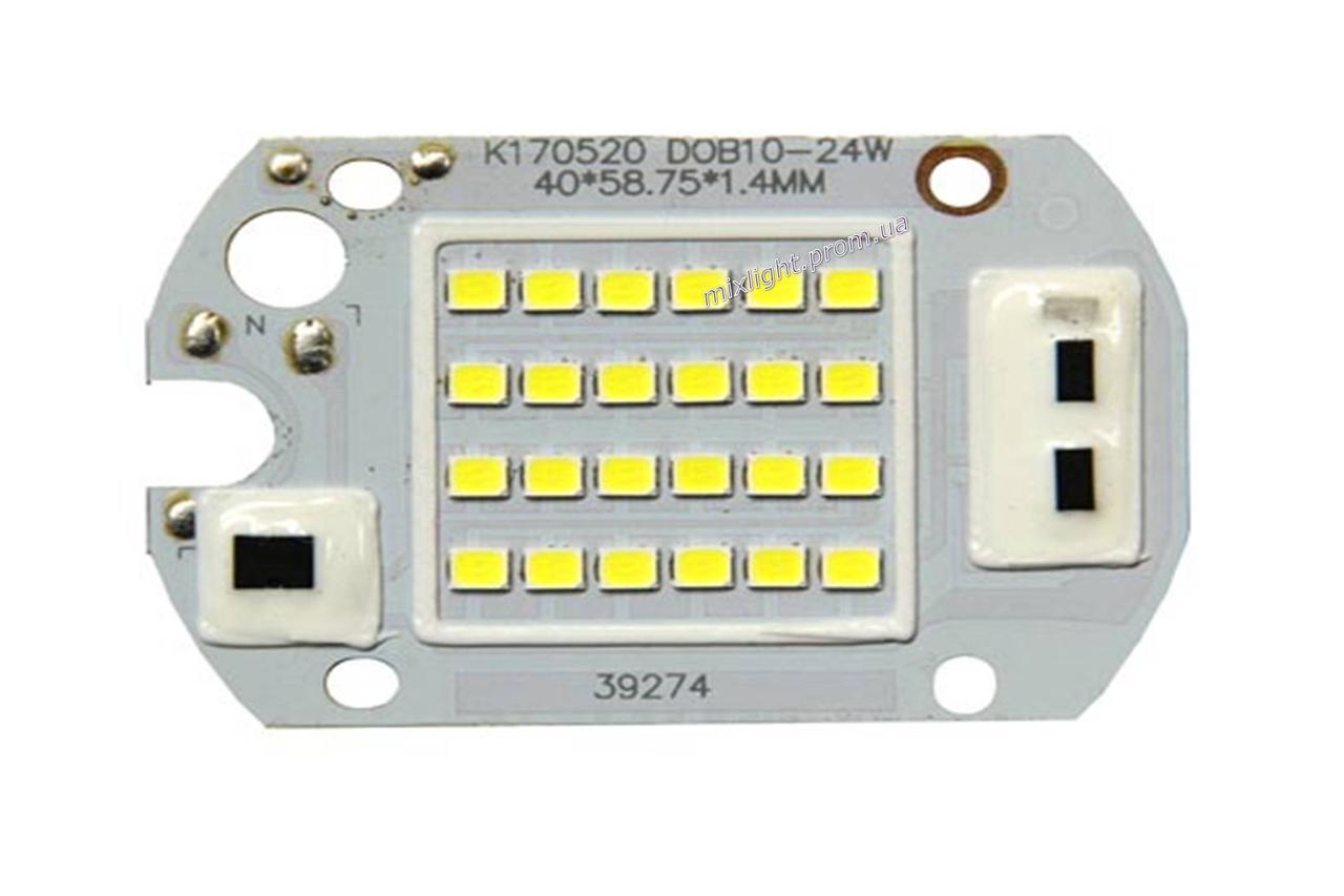 Светодиодная матрица для прожектора 20W 6000K + IC драйвер 220V