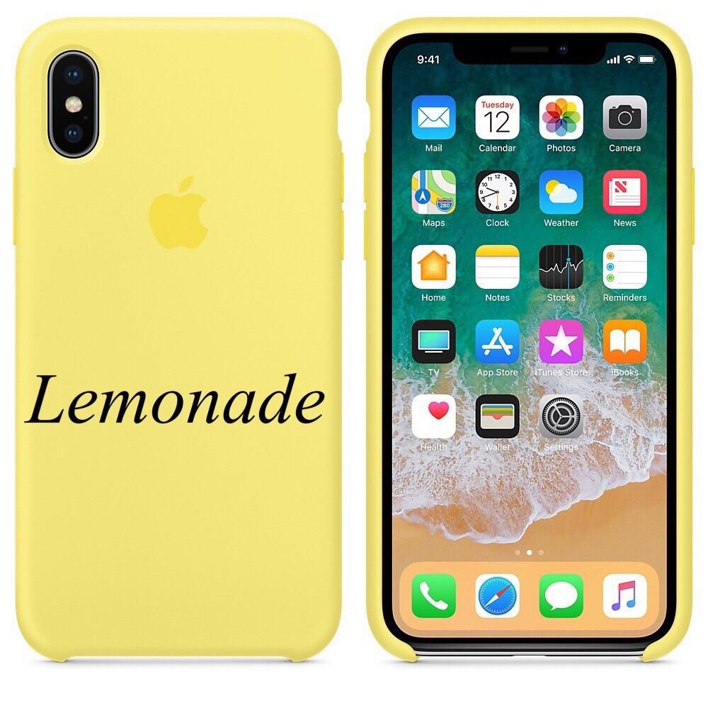 "APPLE SILICON CASE IPHONE X "" LEMONADE """