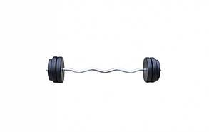 Штанга W-образная 30 кг с противоударным ABS покрытием