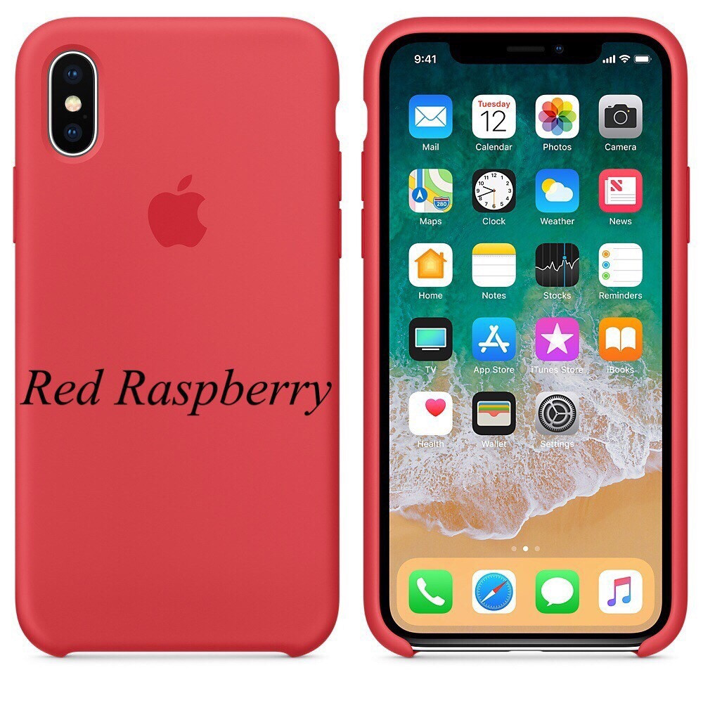 "APPLE SILICON CASE IPHONE X "" RASPBERRY """