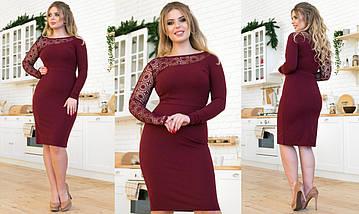 """Облегающее комбинированное миди-платье """"Vanessa"""" с кружевом (большие размеры), фото 3"""