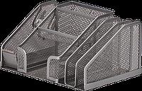 Підставка настільна BUROMAX, срібло, 210x150x100 мм (BM.6241-24)