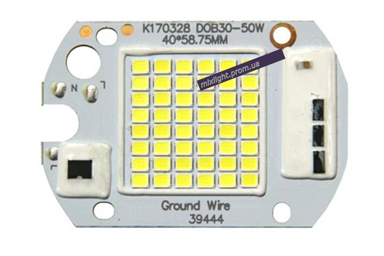 Светодиодная матрица для прожектора 50W 6000K + IC драйвер 220V